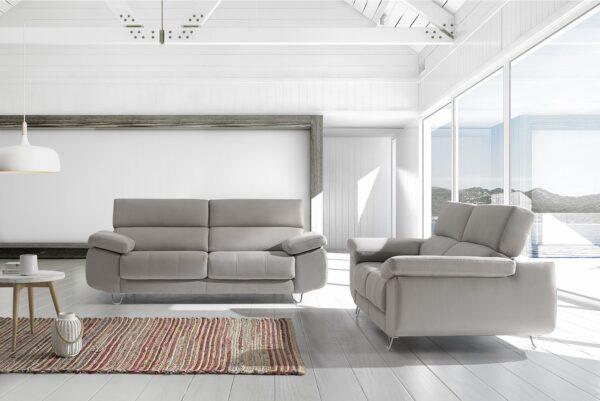 Sofagrup sofa Regina enzo color Plata