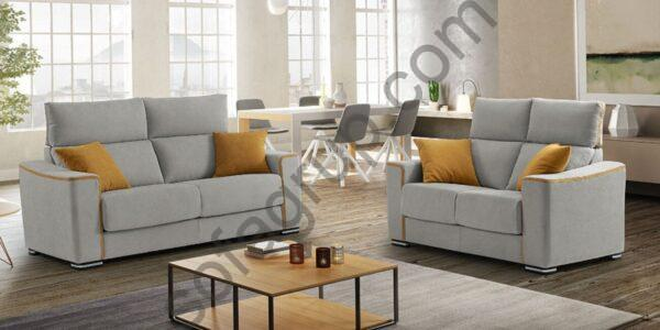Sofagrup dos sofas Roma con cojines
